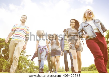 Students Friendship Together Diversity Concept - stock photo
