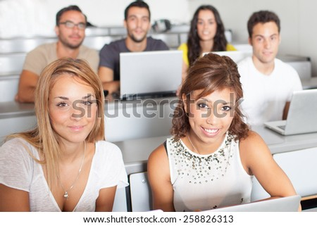 students in classroom during summer - stock photo