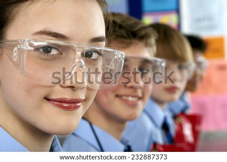 Students in Science Class - stock photo