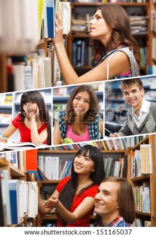 Students lifestyle concept - stock photo