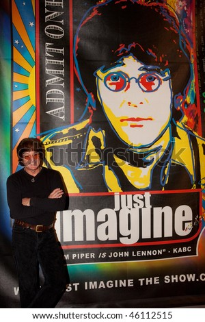 STUDIO CITY, CA - JAN 28:Tim Piper attends John Lennon last concert Just Imagine starring Tim Piper as John Lennon on January 28, 2009 in Studio City, California. - stock photo