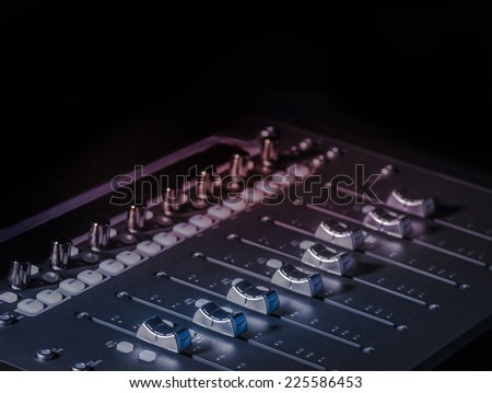 Studio digital sound board - stock photo