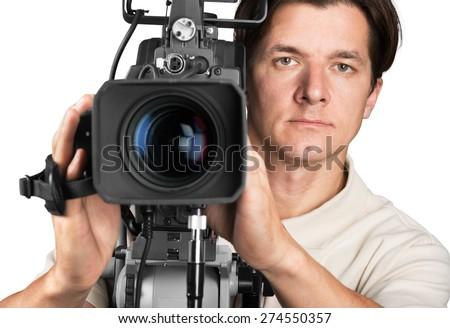 Studio, film, viewfinder. - stock photo