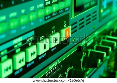 Studio Gear Closeup - stock photo