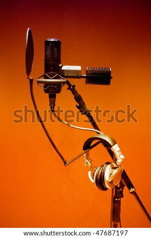 Studio microphone - stock photo