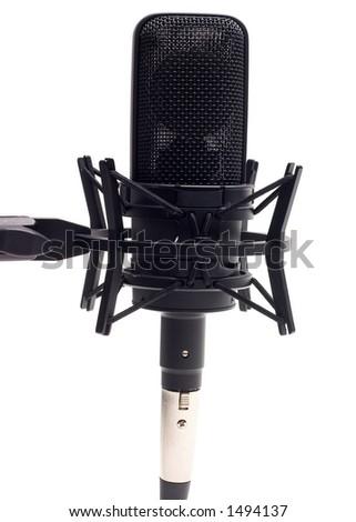 Studio Microphone - Isolated on White - stock photo