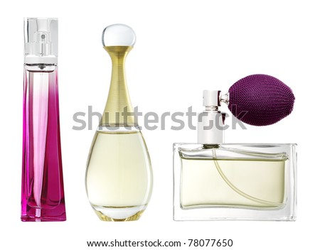 Studio photo of luxury perfume bottle. - stock photo