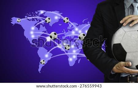 Studio picture of football coach  - stock photo