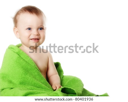 Studio portrait baby - stock photo