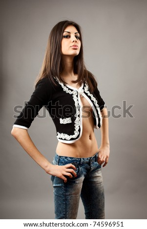 Studio portrait of a fashionable latin young woman - stock photo