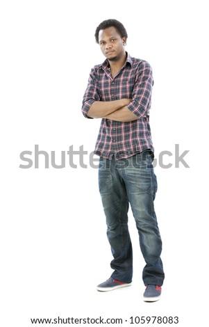 Studio portrait of cool gangster - stock photo