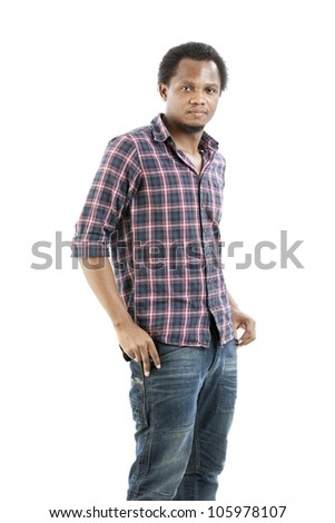 Studio portrait of cool gangster - stock photo