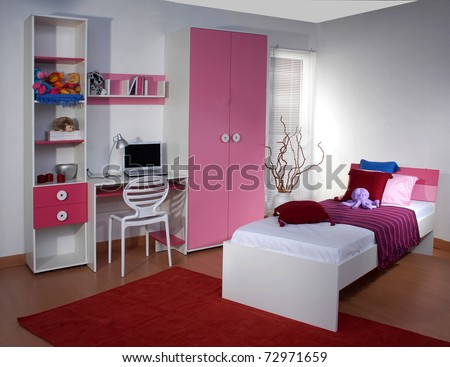 Studio shoot of children room - stock photo