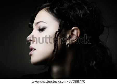 Studio Shot of a Beautiful Young Girl - stock photo