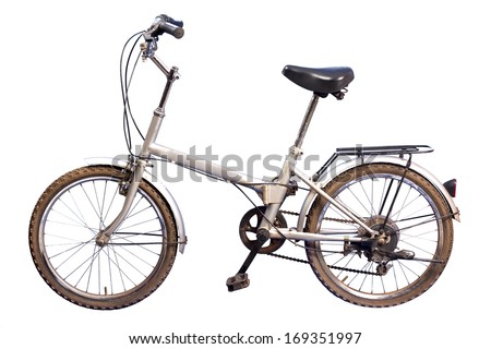 Studio shot of a small generic bike old - stock photo