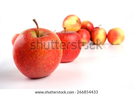 Studio shot of apples on white background - stock photo