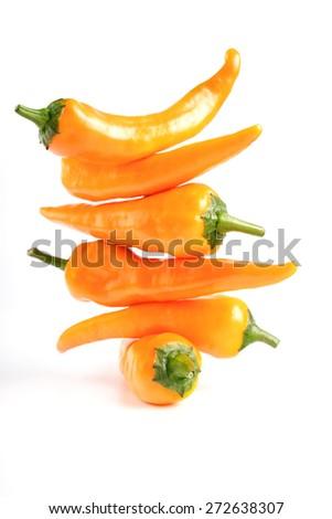 Studio shot of chilli peppers - stock photo