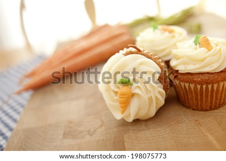 Studio shot of cupcakes - stock photo