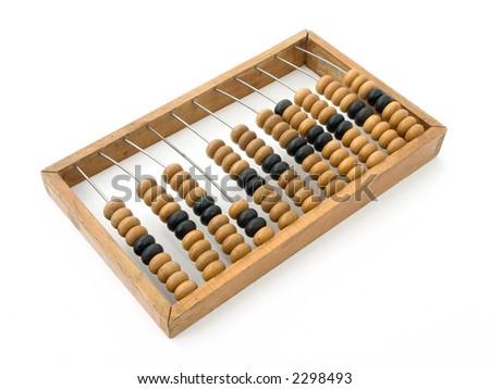Studio shot of wooden abacus - stock photo