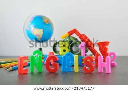Study English conceptual image of education & knowledge - stock photo