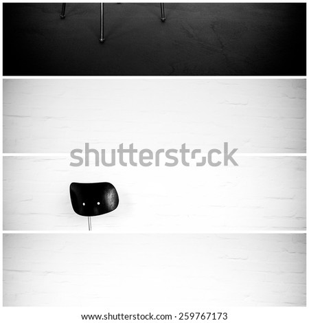 Study of a chair in front of a white wall. - stock photo