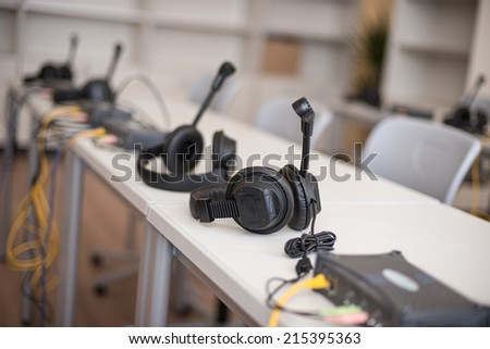 study of a foreign language - stock photo