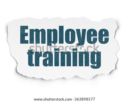 Studying concept: Employee Training on Torn Paper background - stock photo