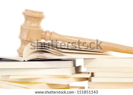 Studying jurisprudence to become judge - stock photo