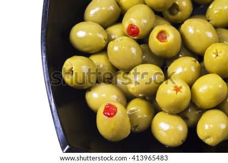 stuffed olives - stock photo