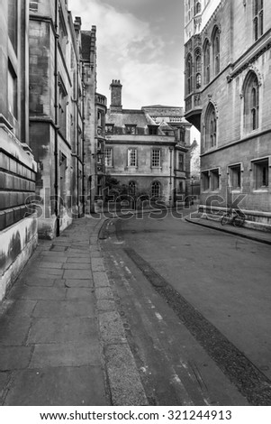 Stunning image of Cambridge City in black and white - stock photo
