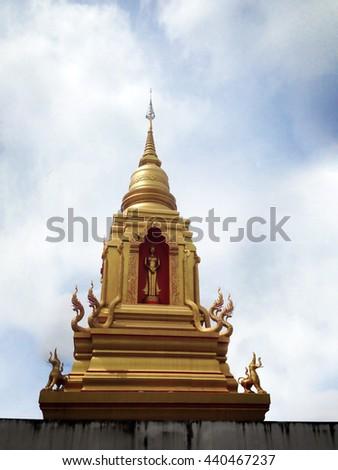 stupa buddha - stock photo