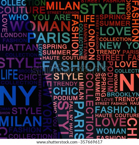STYLE and FASHION word cloud concept. Modern illustration - stock photo