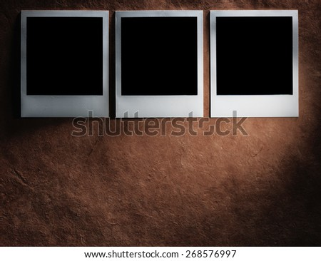 style photo frames on the very vintage paper - stock photo