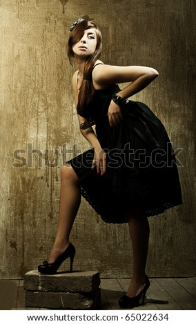 Style photo of a pretty young lady. Art photo - stock photo