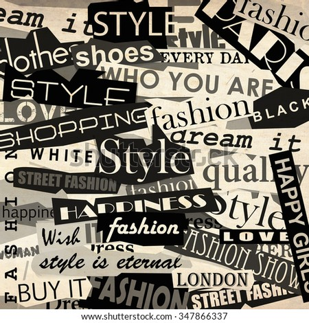 STYLE word cloud concept. Grunge illustration - stock photo