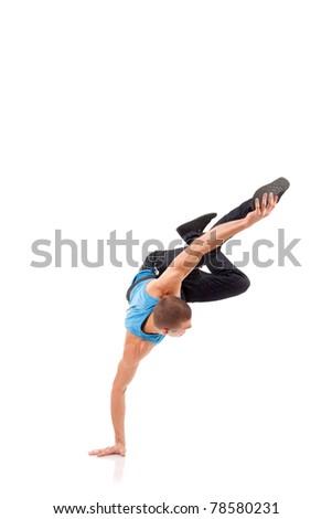 stylish and cool break dance style dancer posing - stock photo