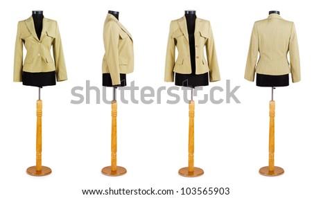 Stylish clothing isolated on the white background - stock photo