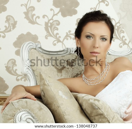 Stylish fashion model, glamour and beauty - stock photo