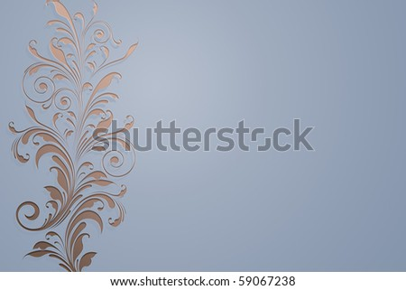 stylish floral background - stock photo