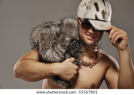 Stylish glamorous rapper - stock photo