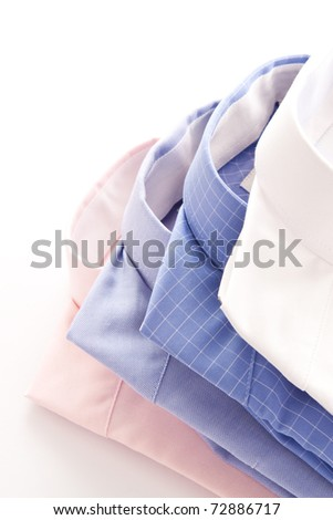 Stylish image of four shirt collars - stock photo