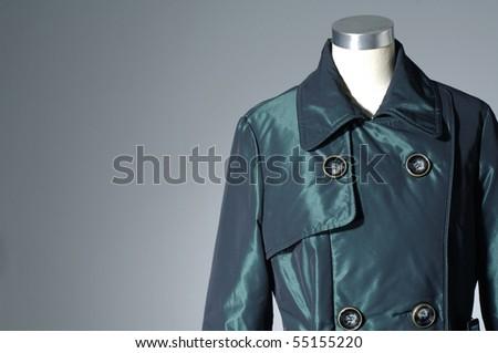 Stylish jacket isolated on gray background - stock photo