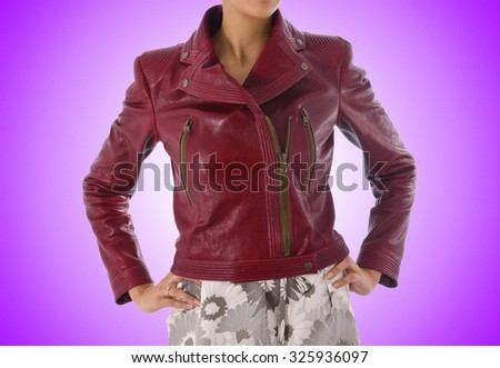 Stylish jacket isolated on model - stock photo