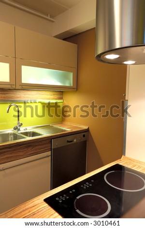 Stylish kitchen - stock photo