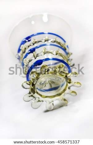 Stylish medieval glass on a white background - stock photo