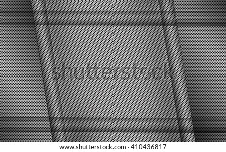 Stylish metallic background. Abstract metal background with grid. Steel background. - stock photo