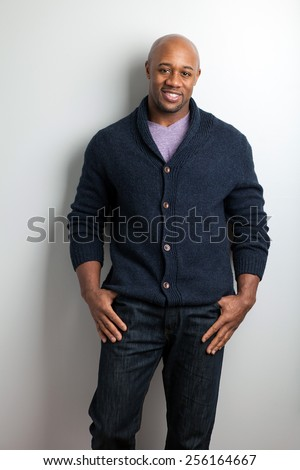Stylish modern business man wearing work casual attire. - stock photo
