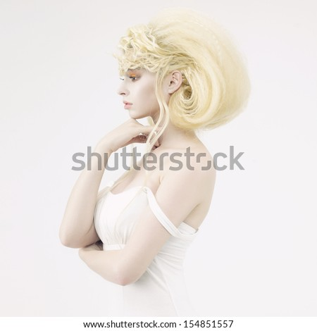 Stylish picture of a beautiful young girl elf - stock photo