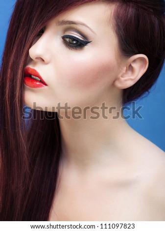 Stylish portrait of a stunning woman - stock photo