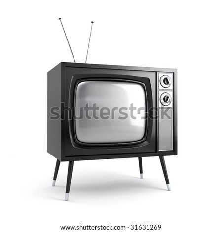 Stylish retro TV. More TV in my portfolio - stock photo